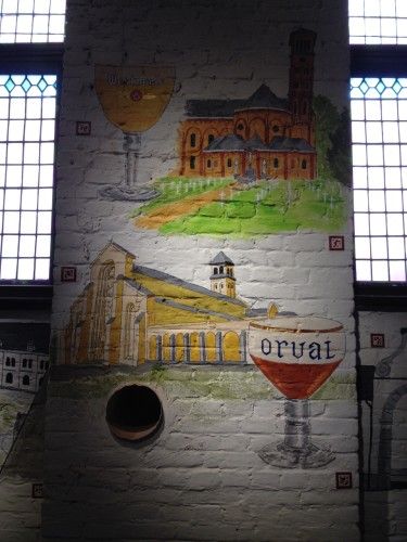 mural of Trappists