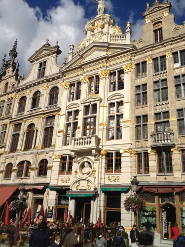 Guild houses on the Grote Markt in Brussels