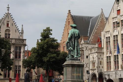 Van Eyck statue in Bruges