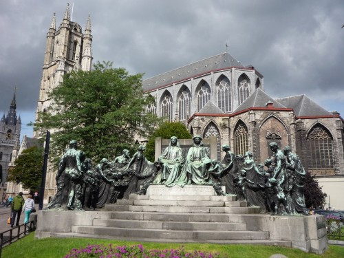 Van Eyck Monument in Ghent