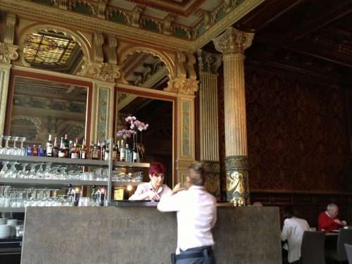 Ornate bar in a restaurant